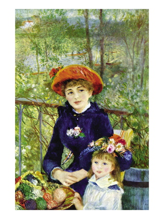 On The Terrace Wall Decal by Pierre-Auguste Renoir