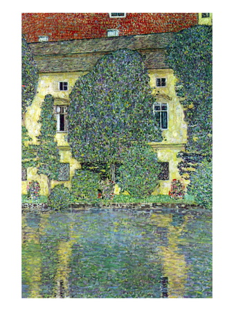 Castle At The Attersee Wall Decal by Gustav Klimt