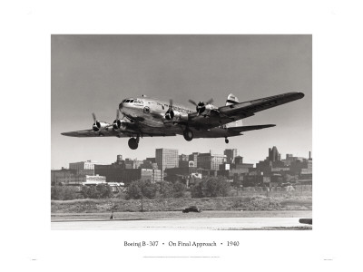 Boeing B-307 on Final Approach, 1940 Wall Decal