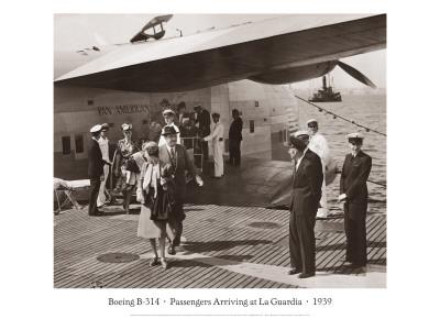 ボーイング-B314, ラガーディアに到着する乗客, 1939 ウォールステッカー : クライド・サンダーランド