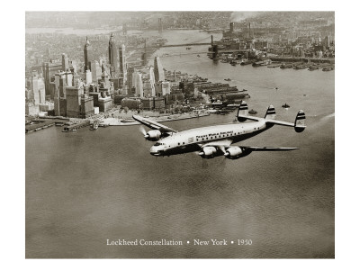 Lockheed Constellation, New York 1950 Wall Decal by Clyde Sunderland