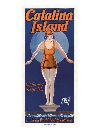 飛込みをするカタリーナ(1925) ウォールステッカー