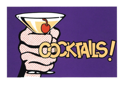 Cocktails! Pop Art with Martini in Hand Decalques de parede na ...