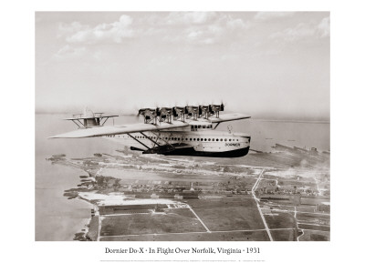 Dormier Do-X, in Flight over Norfolk, Virginia, 1931 Wall Decal