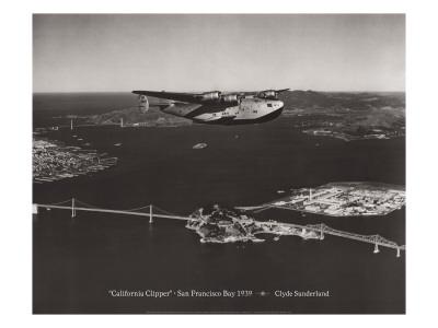 California Clipper, San Francisco Bay, California 1939 Wall Decal by Clyde Sunderland