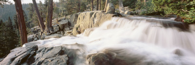 Water Flowing at a Waterfall, Emerald Bay, Lake Tahoe, California, USA Wall Decal by  Panoramic Images