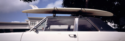 Surf Board on Roof of Car, California, USA Wall Decal by  Panoramic Images