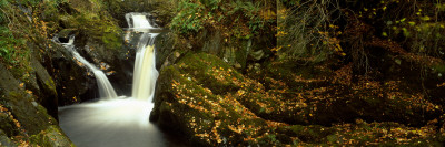 Water Flowing Over Rocks, Pecca Falls, Ingleton, North Yorkshire, England, United Kingdom Wall Decal by  Panoramic Images
