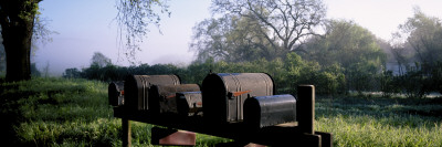 Mailboxes in a Garden, Napa Valley, California, USA Wall Decal by  Panoramic Images