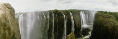 Water Falling Into a River, Victoria Falls, Zimbabwe, Africa Wall Decal by  Panoramic Images