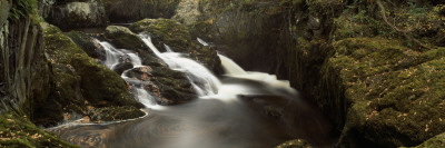 High Angle View of a Waterfall, Beezley Falls, Ingeleton, North Yorkshire, England, United Kingdom Wall Decal by  Panoramic Images