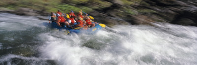 People Rafting on the Trinity River, California, USA Wall Decal by  Panoramic Images
