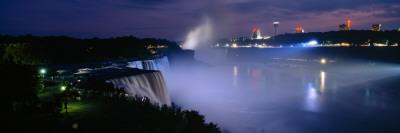 American Falls at Night, Niagara Falls, New York, USA Wall Decal by  Panoramic Images