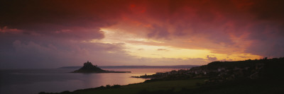 Clouds over an Island, St. Michael's Mount, Cornwall, England Wall Decal by  Panoramic Images
