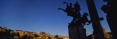 Silhouette of Statues, Monument of the Assens, Veliko Turnovo, Bulgaria Wall Decal