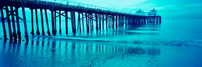 Pier at Sunset, Malibu Pier, Malibu, Los Angeles County, California, USA Wall Decal by  Panoramic Images