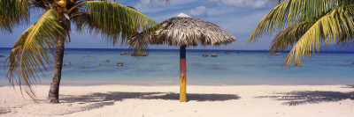 Sunshade on the Beach, La Boca, Cuba Wall Decal by  Panoramic Images