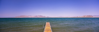 Pier on a Lake, Pyramid Lake, Nevada, USA Wall Decal by  Panoramic Images