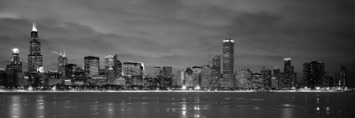 Chicago - B&W Reflection Wall Decal by Jerry Driendl