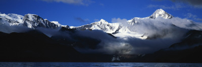 Clouds over a Mountain Range, Mt Paget, Allardyce Range, Cumberland Bay, South Georgia Island Wall Decal by  Panoramic Images