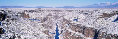 Bridge across a River, Rio Grande Gorge Bridge, Rio Grande, Rio Grande Gorge, New Mexico, USA Wall Decal by  Panoramic Images