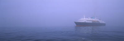 Cruise Ship in the Fog at Sea, South Orkney Islands, Antarctica Wall Decal by  Panoramic Images
