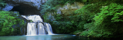 Waterfall in a Forest, Lison River, Jura, France Wall Decal by  Panoramic Images
