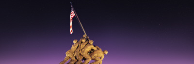 War Memorial at Twilight, Iwo Jima Memorial, Rosslyn, Arlington, Arlington County, Virginia, USA Wall Decal by  Panoramic Images