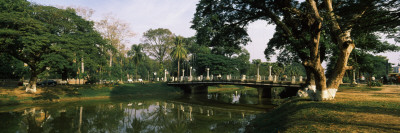 Bridge across a River, Siem Reap, Cambodia Wall Decal by  Panoramic Images