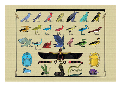Birds and Other Creatures from Egyptian Monuments Wall Decal by J. Gardner Wilkinson