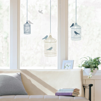 Bird cages  (Window Decal) Mode (wallstickers)