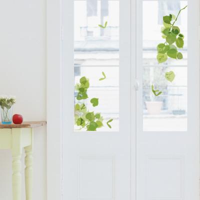 Green Leaves Window Decal Sticker Pencere Çıkartmaları