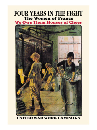 Four Years in the Fight: The Women of France Wall Decal by F. Jonas