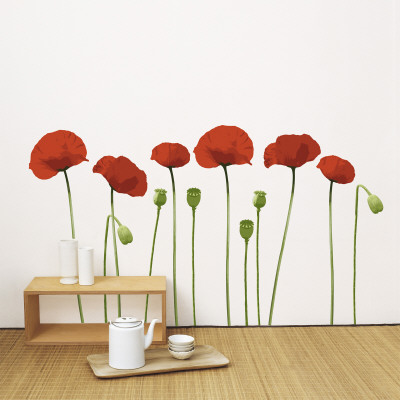 poppy wall decal at allposters com au poppy wall decals trendy wall designs