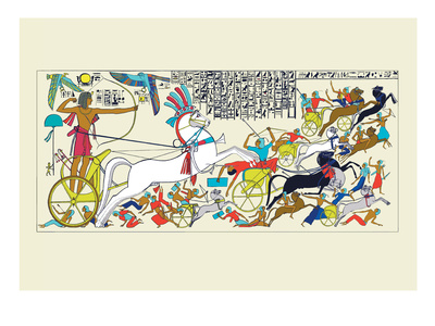 Battle Scene of Seti I and the Khita Wall Decal by J. Gardner Wilkinson