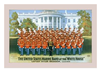 The United States Marine Band at the White House Wall Decal by W.l. Radcliffe