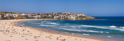 Tourists on the Beach, Bondi Beach, Sydney, New South Wales, Australia Wall Decal by  Panoramic Images