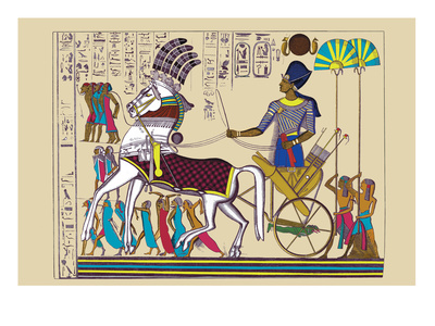 Ramses III Returning with His Prisoners Wall Decal by J. Gardner Wilkinson