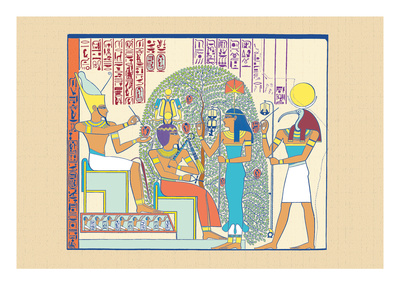 Atum, Ramses II and Sefekh Wall Decal by J. Gardner Wilkinson