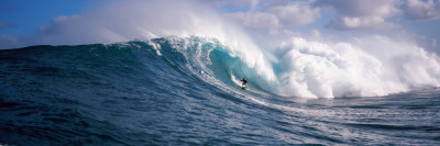 Surfer in the Sea, Maui, Hawaii, USA Wall Decal by  Panoramic Images