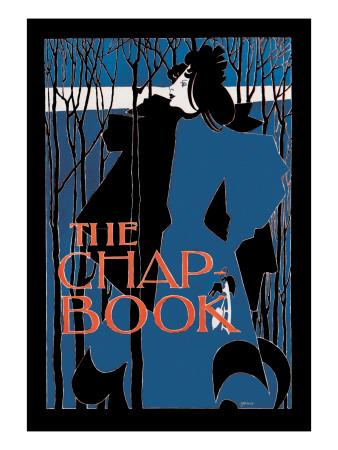 """The Chap Book: """"Blue Lady"""""""""""" Wall Decal by Will H. Bradley"""