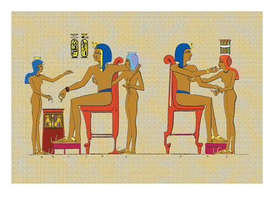 Ramses III Playing at Draughts Wall Decal by J. Gardner Wilkinson