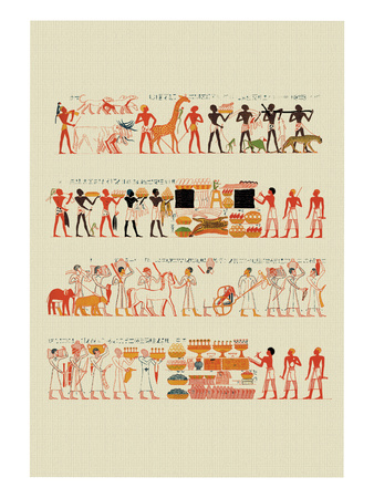 Tributaries from the Tomb of Rekhmara at Thebes Wall Decal by J. Gardner Wilkinson