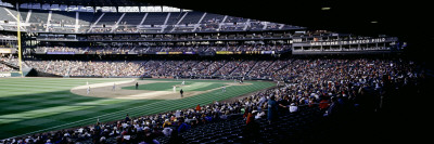 Baseball Players Playing Baseball in Stadium, Safeco Field, Seattle, King County, Washington State Wall Decal by  Panoramic Images