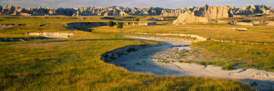 Rock Formations on a Landscape, Palmer Creek, Badlands National Park, South Dakota, USA Wall Decal by  Panoramic Images