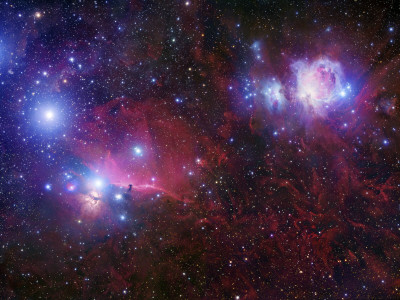 The Belt Stars of Orion Photographic Print by  Stocktrek Images