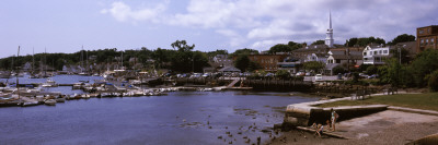 Boats at a Harbor, Camden, Knox County, Maine, USA Wall Decal by  Panoramic Images