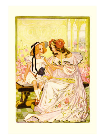 Dorothy and Ozma Wall Decal by John R. Neill