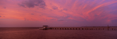 Pier over the Sea, Bokeelia Pier, Bokeelia, Pine Island, Florida, USA Wall Decal by  Panoramic Images
