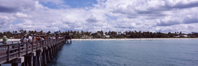 Tourists on a Pier, Gulf of Mexico, Naples, Collier County, Florida, USA Wall Decal by  Panoramic Images